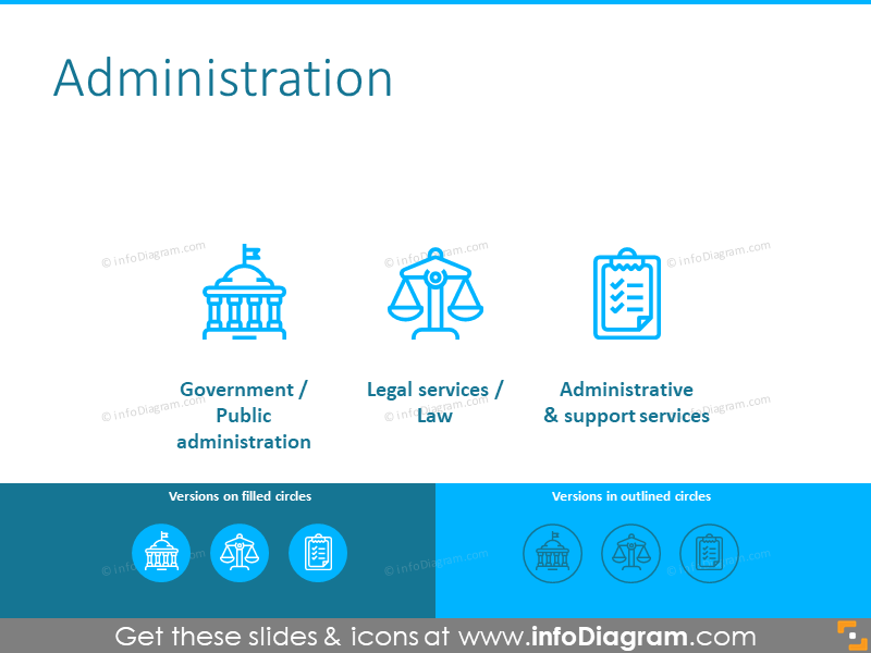 Administration icons set