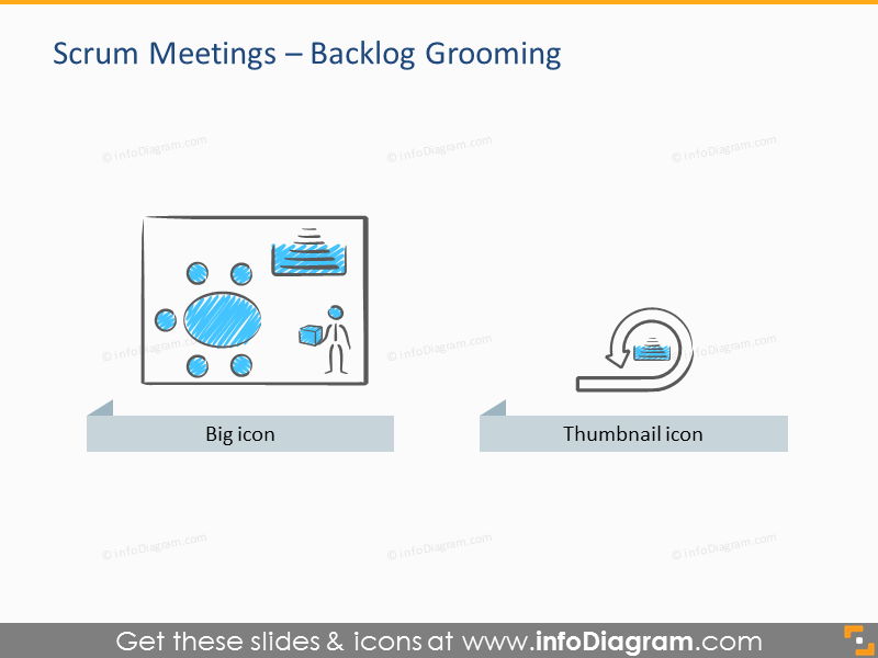 Scrum Process and Artefacts Presentation Template (PPT icons)