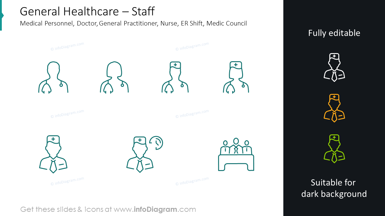 Staff graphics: medical personnel, doctor, general practitioner