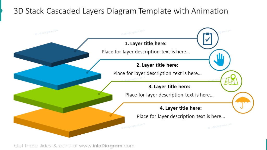 20 Modern Layer Diagrams And Flat 3d Tier Infographics