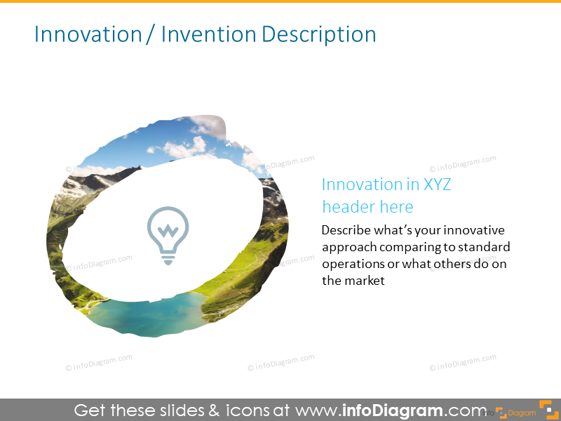 Headline slide intended to illustrate innovation header