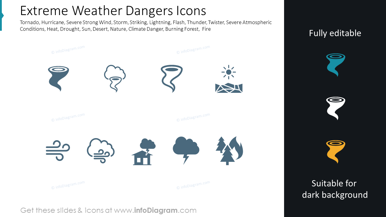 Extreme Weather Dangers Icons
