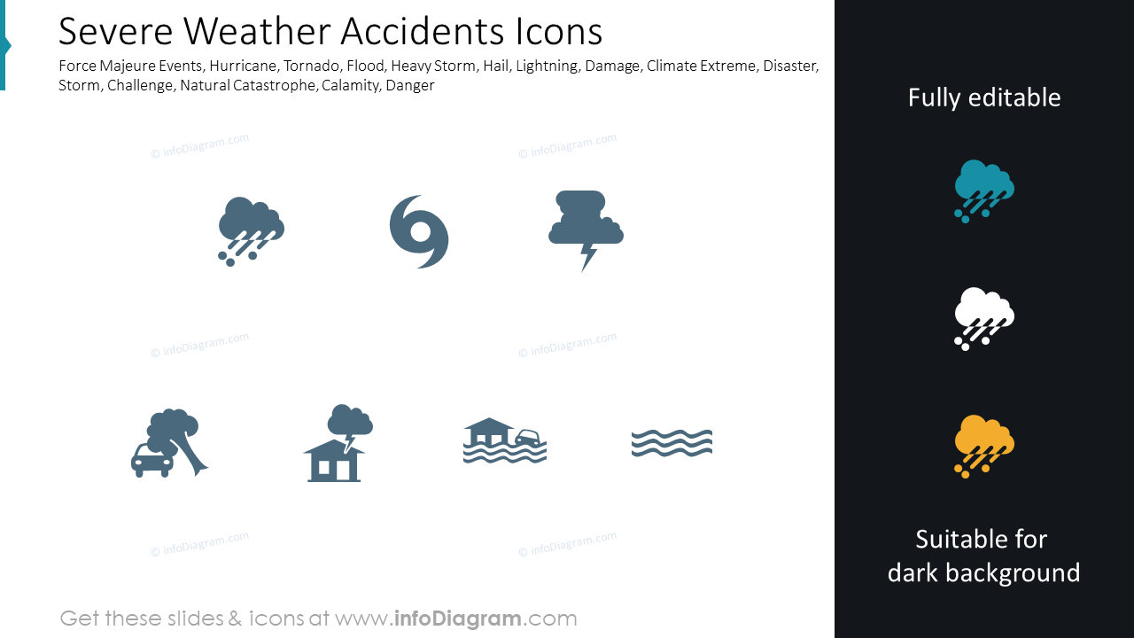 430 Modern Flat Icons for infographics PowerPoint slides