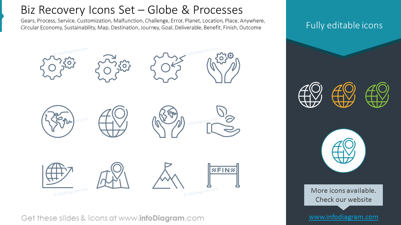 Biz Recovery Icons Set – Status & Structure