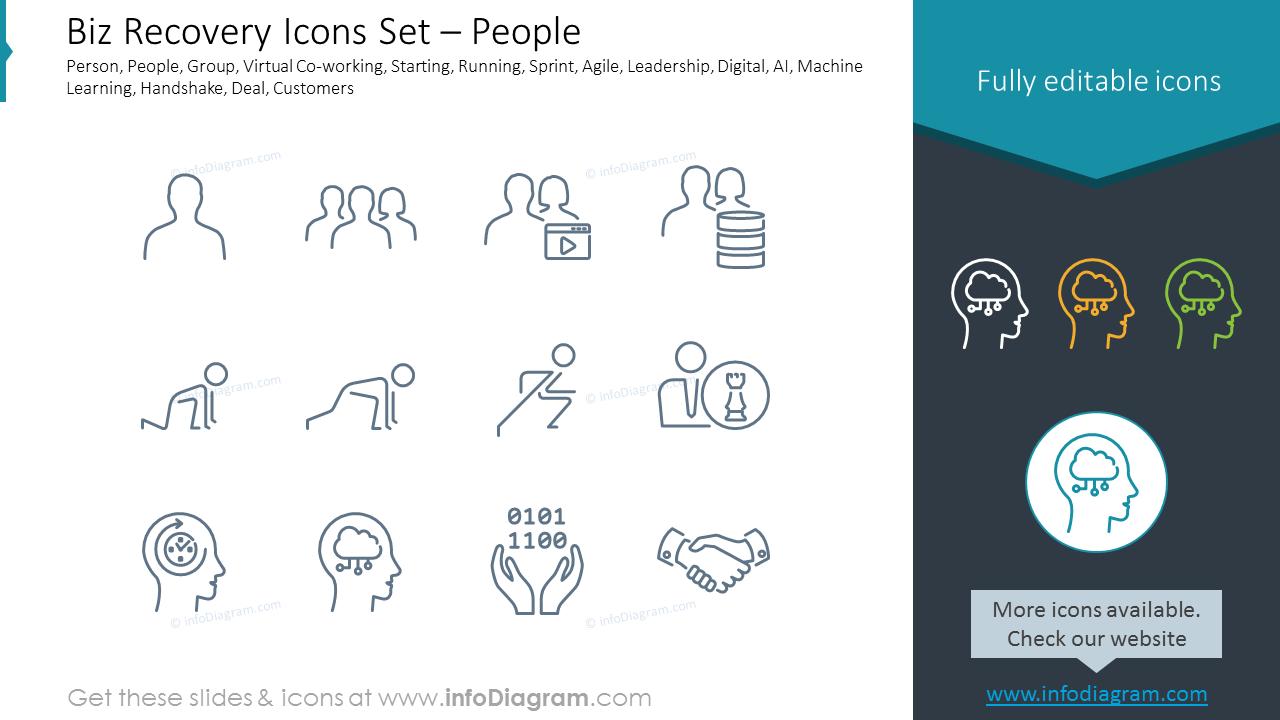Biz Recovery Icons Set – Globe & Processes