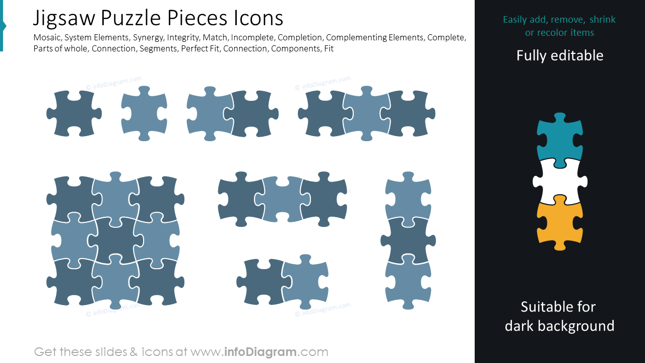 Jigsaw Puzzle Pieces Icons