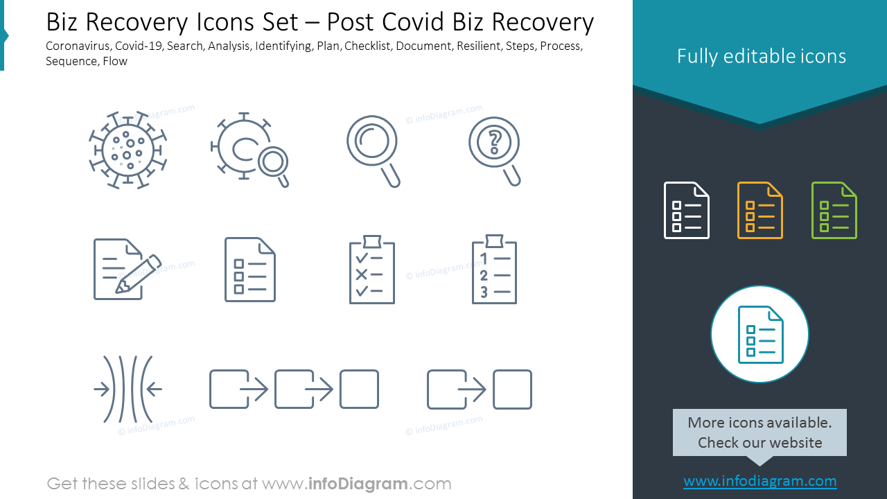 Biz Recovery Icons Set – Digital & Strategy
