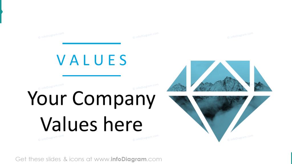 Company values creative slide