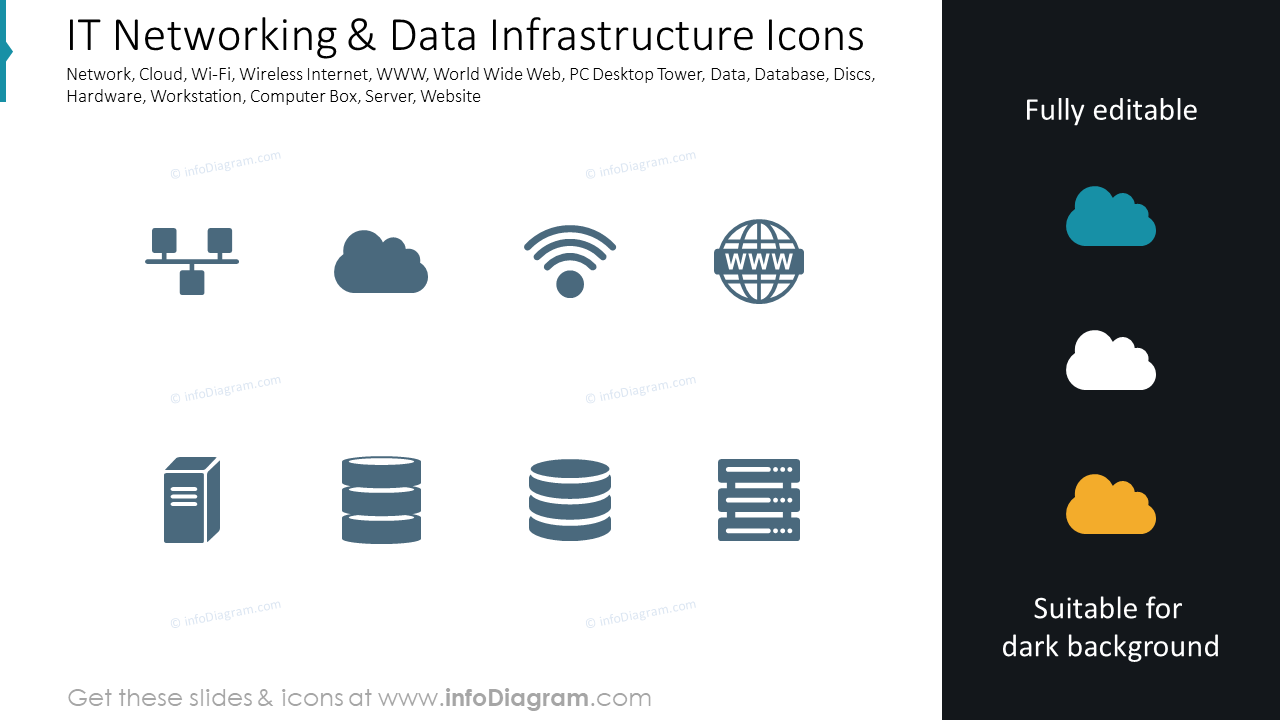 IT Networking & Data Infrastructure Icons