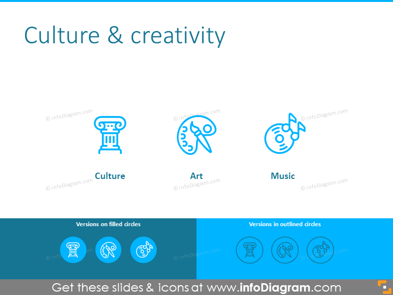 Culture and creativity template: culture, art, music