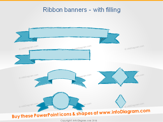 Ribbon Banner Infographics Title PowerPoint
