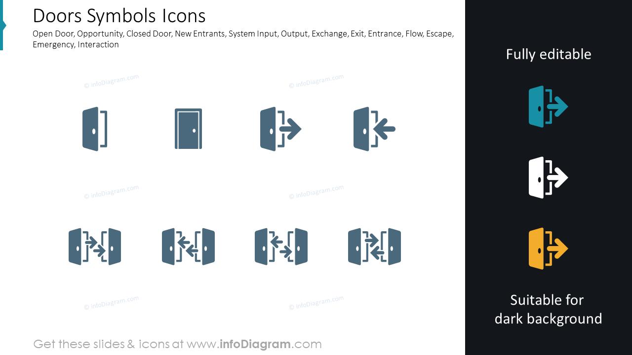 Doors Symbols Icons