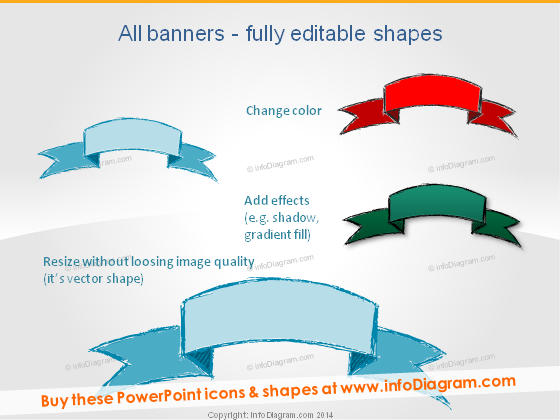 Blue Green Red Banner Editable Handcrafted ppt