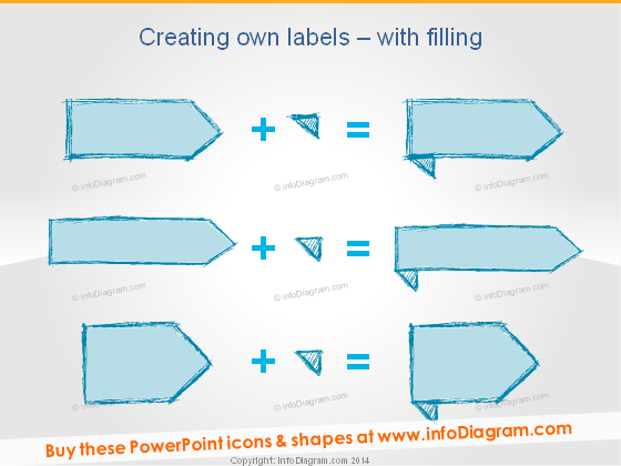 Creating hand drawn label retro doodle Powerpoint