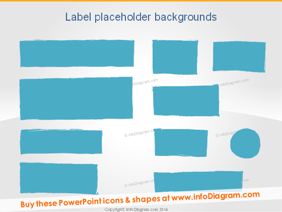 Hand written Rectangle Label PowerPoint placeholder