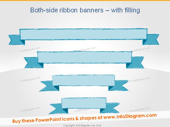Sketch Title Banner Retro PowerPoint clipart