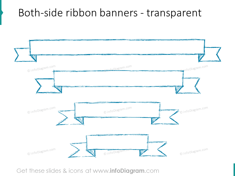 sketch-ribbon-banner-pencil-ppt-infographics