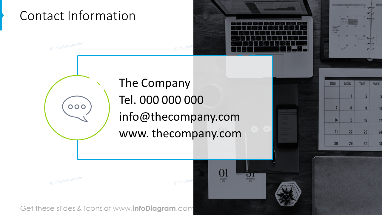 Contact information template