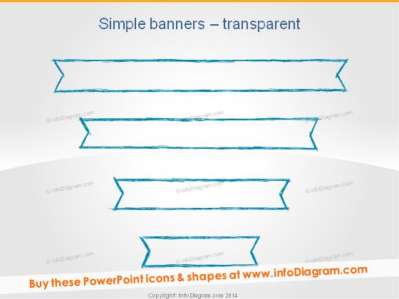 Pencil Banner Outline Stripe hand drawn ppt slide title