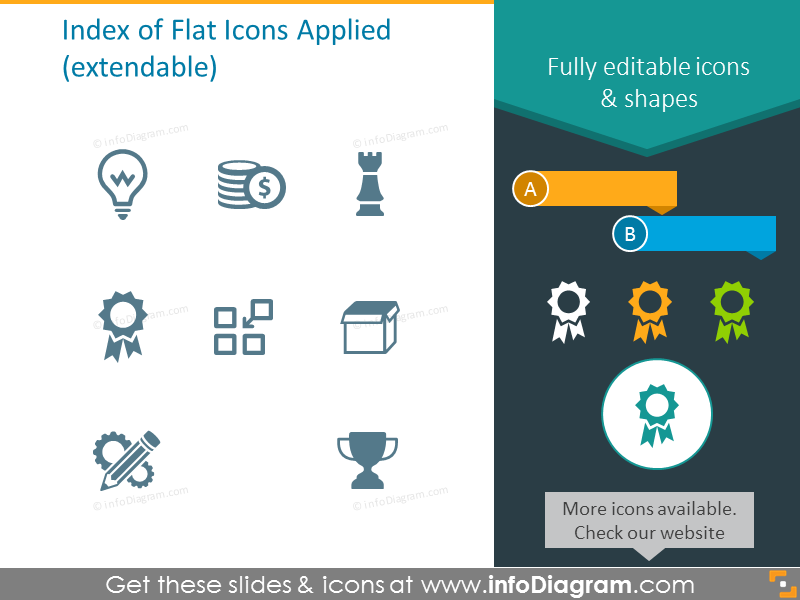 Extendable Index of Flat Icons