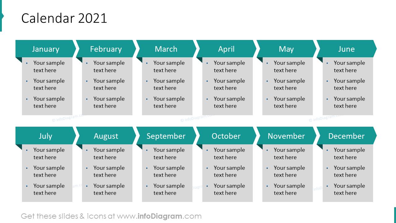 12-Month Calendar 2020 EU