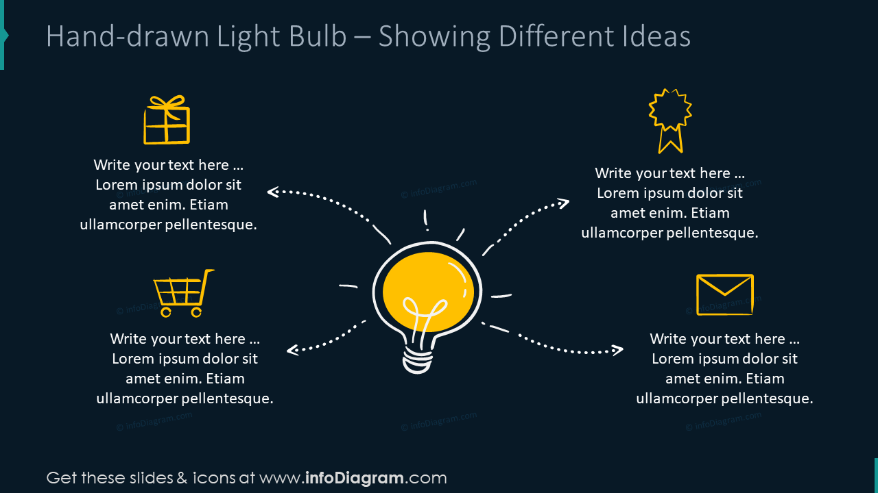 Creative Light Bulb Idea Graphics Innovation Diagrams PPT ...