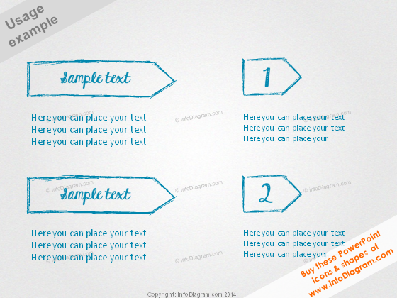 Scribbled Title Banner Pencil Arrow drawing ppt clipart