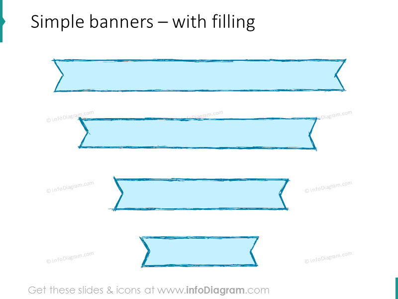pencil-banners-retro-stripe-blue-slide-title-ppt-sketch
