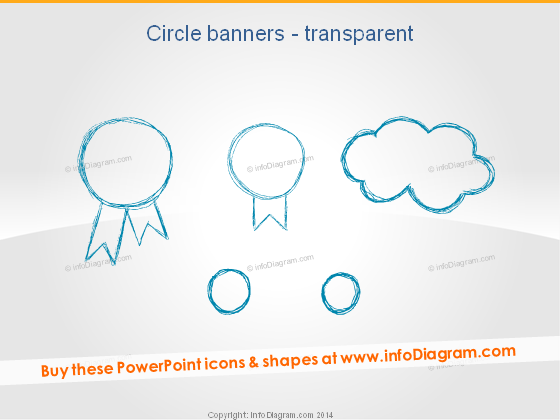 Handdrawn Badge Circle Banners Pencil Cloud ppt icon