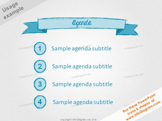 Agenda Retro style Title Handdrawn Pencil ppt clipart
