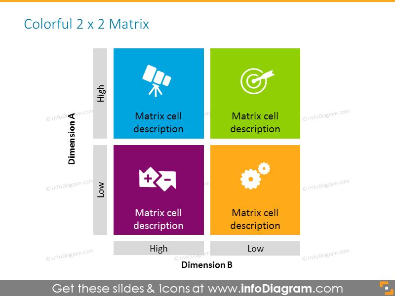 Colorful matrix template 4 cells