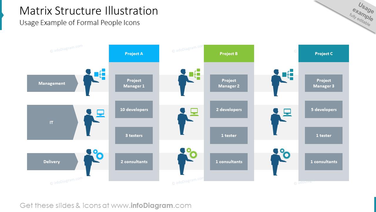 matrix organization structure diagram