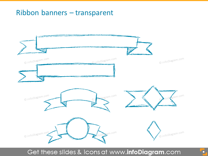 Transparent Ribbon banners