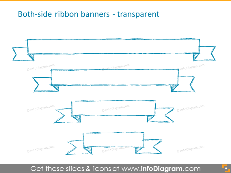 Both-side ribbon transparent banners