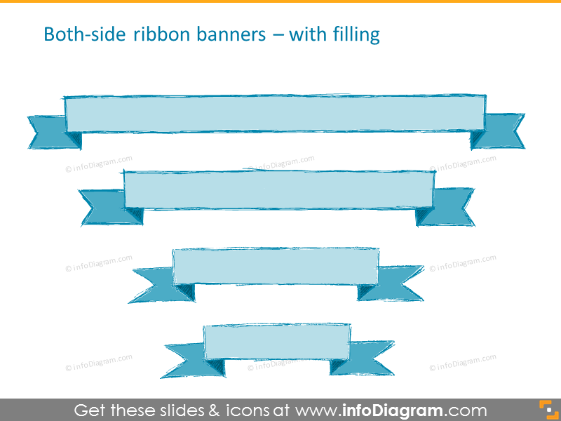 pencil banner handdrawn ribbon retro ppt clipart 164