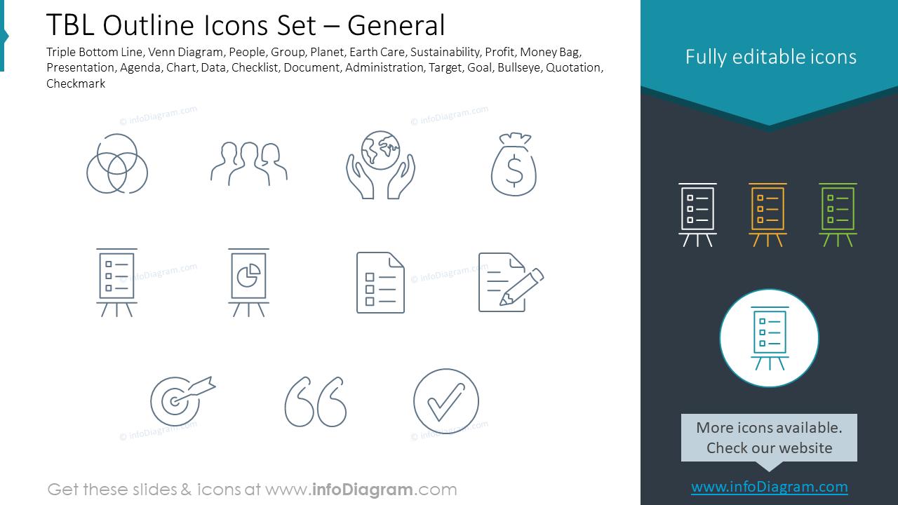TBL Outline Icons Set – General