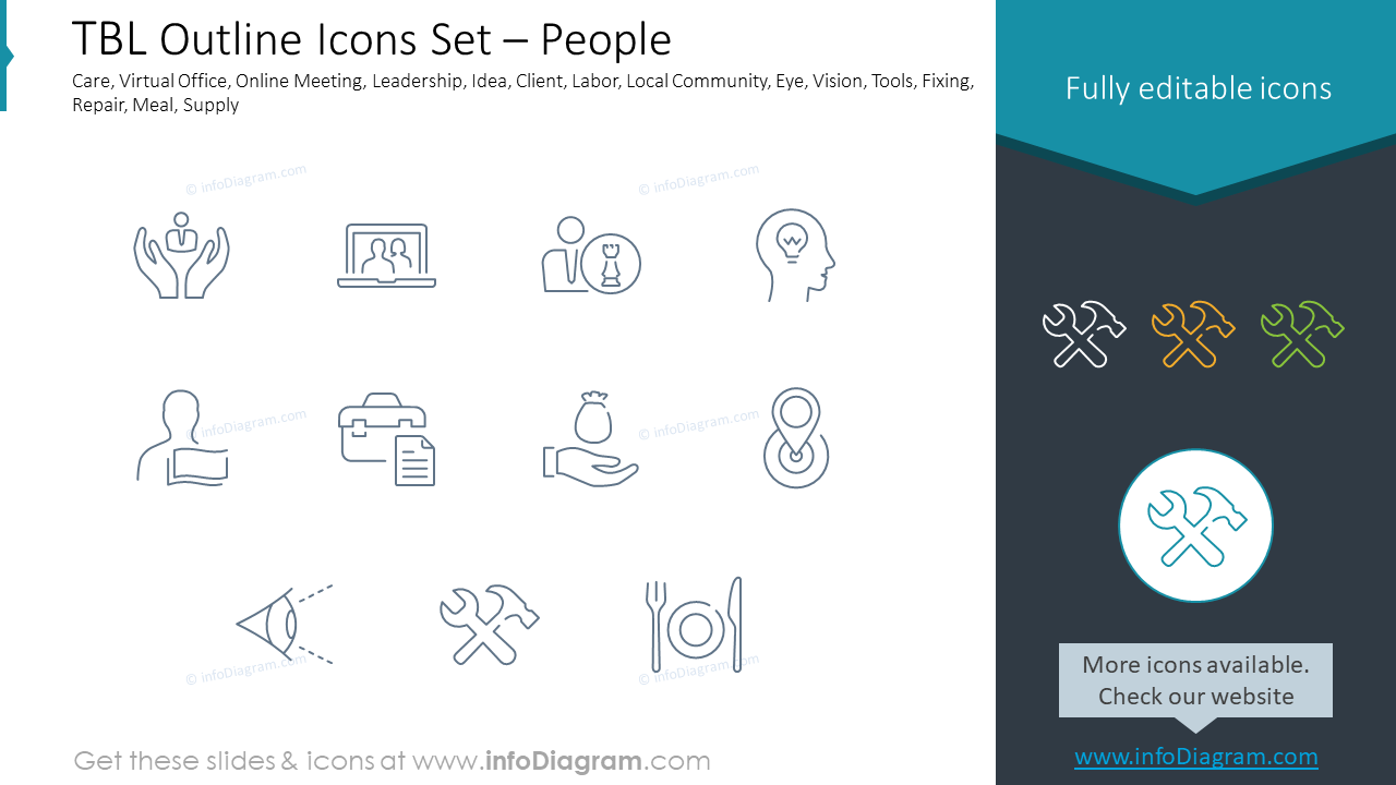TBL Outline Icons Set – People