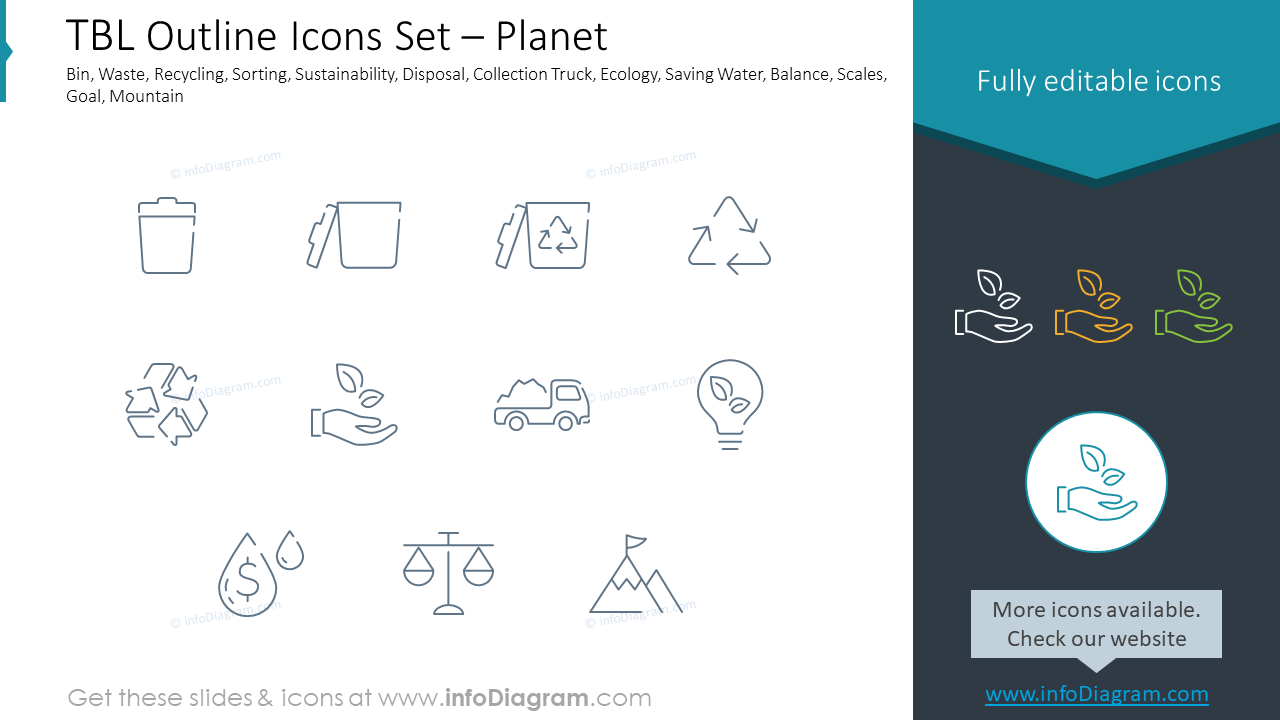 TBL Outline Icons Set – Planet