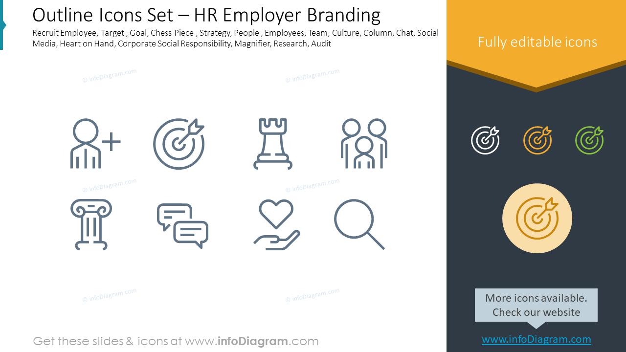 Outline Icons Set – HR Employer Branding