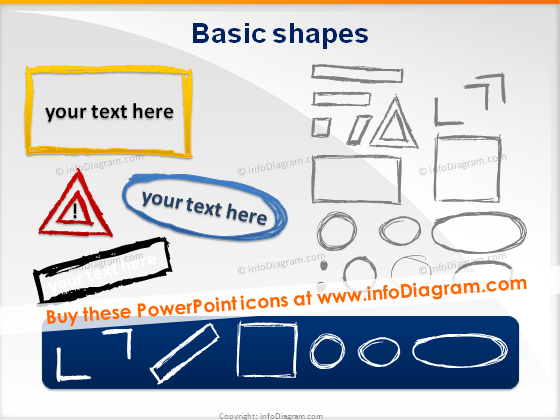 handmade pencil sketch rectangle triangle frame powerpoint vector
