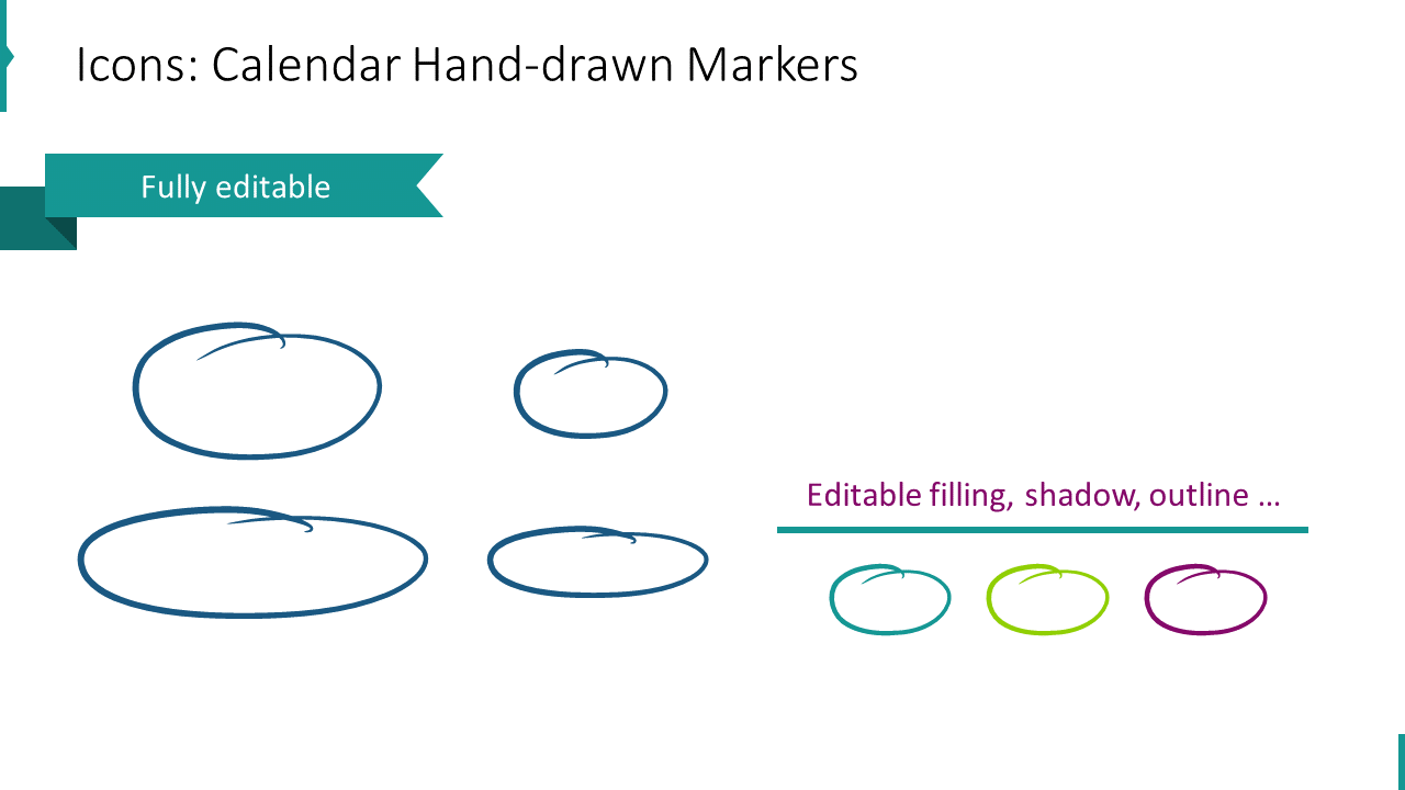 Icons: Calendar Hand-drawn Markers
