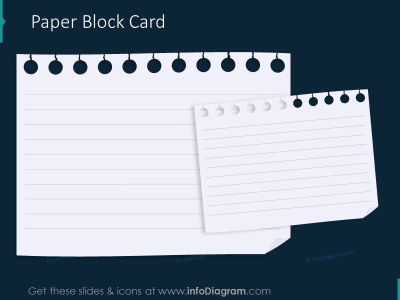 Paper block card transparent background picture pptx