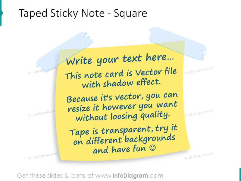 taped sticky note square powerpoint image image