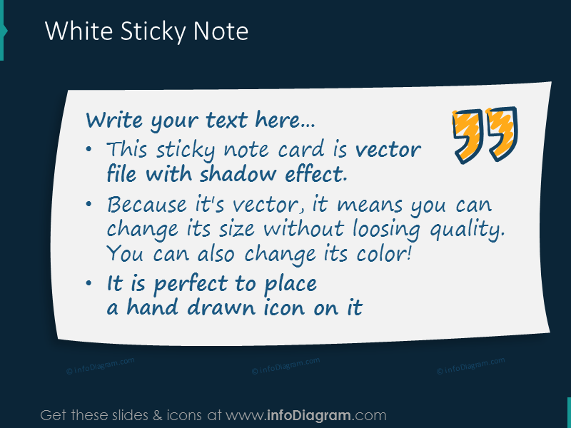 white sticky note card picture quote transparent ppt image