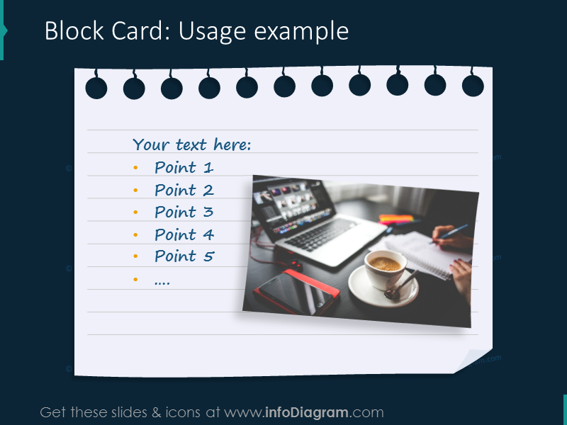 block card example notes picture ppt image