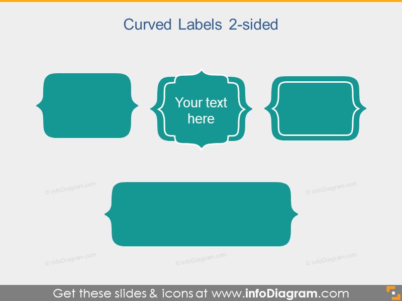 Curved Slide Label Flat PowerPoint Title Field