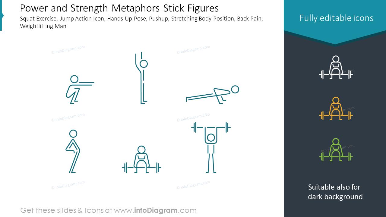 Power and Strength Metaphors Stick Figures