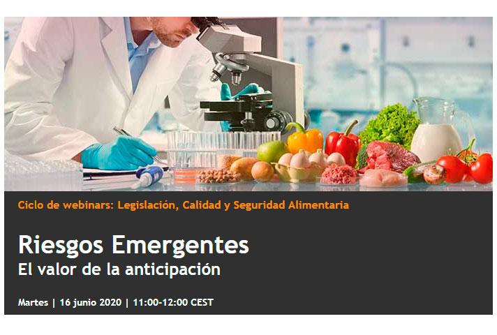 Riesgos Emergentes, el valor de la anticipación - webinar tecnología alimentaria