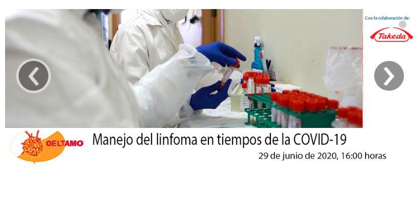 Manejo del linfoma en tiempos de la COVID-19  - calendario webinars