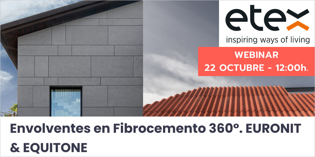 Envolventes en Fibrocemento 360º. EURONIT & EQUITONE - webinar área construcción
